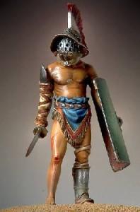 Modelo de Gladiador Sammnita. Fotografía http://www.hobbiesguinea.com