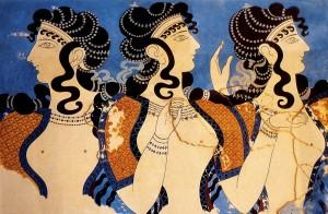 Damas de azul