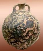 Cerámica minoica de Kamares (ca. ????), Museo de Heraklion.