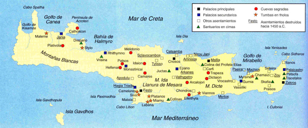 mapa de Creta nuevo