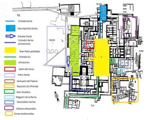 Plano del palacio de Cnoso. Clicar sobre la imagen para ampliar.