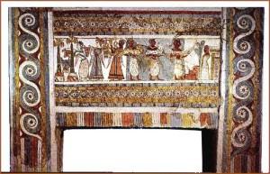 Sarcófago de un presumible terrateniene de Hagia Triada.