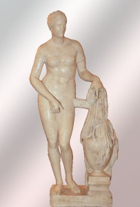 Venus de Cnido, de Praxiteles 360 a.C. Copia romana s. II a. C. Museo Pío Clementino, Vaticano