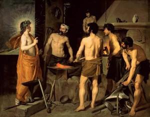 La fragua de Vulcano, de Diego Velázquez 1629-1630. Museo Nacional del Prado, Madrid.