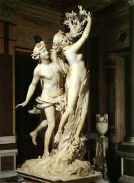Apolo y Dafne de Gian Lorenzo Bernini, 1625. Galería Borghese, Roma.