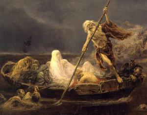 José Benlliure. La barca de Caronte (1919). Valencia, Museo de Bellas Artes
