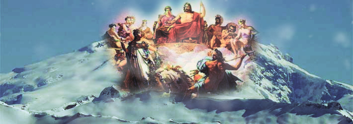 Asamblea de los dioses en el monte Olimpo