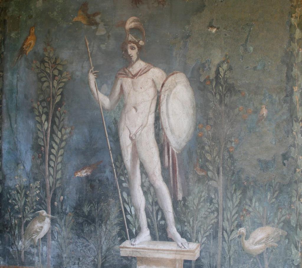 Marte. Pintura mural de la Casa de Venus en la Concha, primera mital s. I. d.C. Pompeya