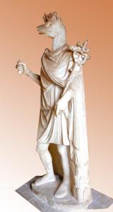 Hermes asimilado a Anubis. s. l-ll d.C. Museos Vaticanos.