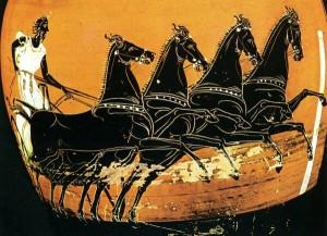 Carrera de cuádriga Cerámica griega 410 a 400 a C Museo British