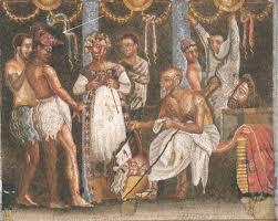 Mosaico casa del Poeta trágico, Pompeya. Museo de Nápoles