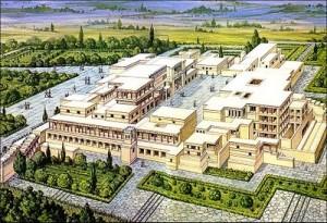 Reconstrucción virtual del Palacio de Cnosos