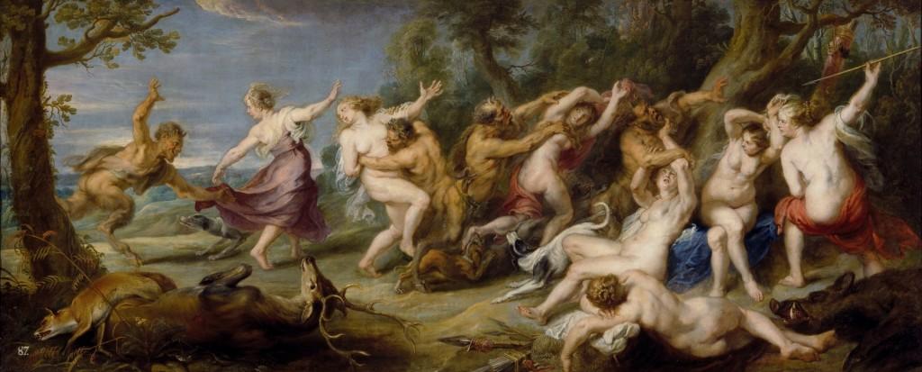 Las ninfas de Diana sorprendidas por los sátiros, P.P. Rubens, 1639-1640. Museo del Prado