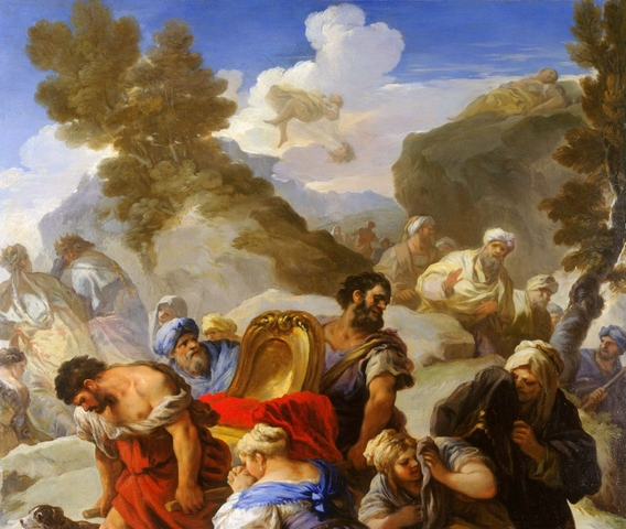 Psique depositada sobre la roca, Luca Giordano (1695-1697). Royal Collection, Palacio de Windsor, Reino Unido.