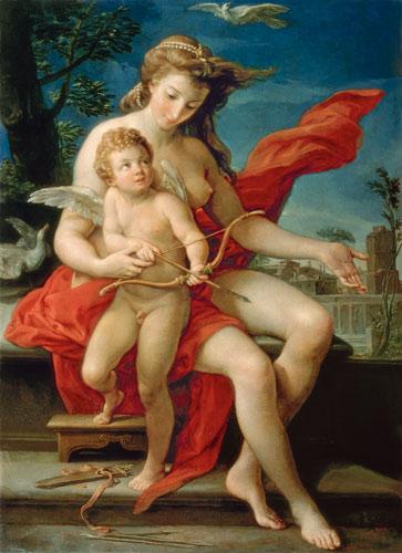 Venus y Cupido, Girolamo Batoni (1708-1787). Museo de la Catedral del Arcángel, de Moscú.