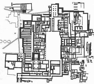Plano Palacio de Cnossos