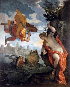Perseo liberando a Andrómeda de Pablo Veronés, 1578. Museo de Bellas Artes de Rennes, Francia