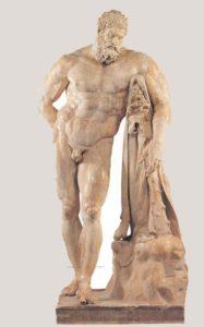 Hércules Farnesio, copia romana en mármol de un original en bronce de Lisipo del s.IV a.C. Museo Arqueológico Nacional de Nápoles.