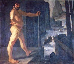 Hércules desvía los ríos Alfeo y Penteo hacia los Establos de Augias, Zurbarán, 1634. Museo del Prado
