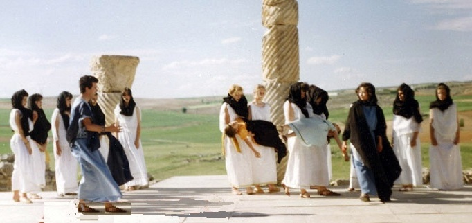 "Medea, de Eurípides. Grupo Doménico del I.B. "" El Greco"", de Toledo. lV Festival Juvenil de Teatrogrecolatino de Segóbriga, 14 de mayo de 1987."
