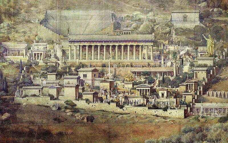 Reconstrucción del Santuario de Delfos por el arquitecto Albert_Tournaire (1862-1958)