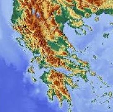 Orografía de Grecia continental y peninsular
