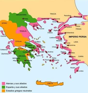 Guerra del Peloponeso.
