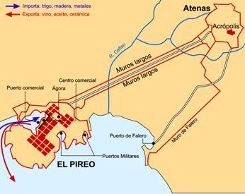 Atenas y el Pireo en el s. V a.C.