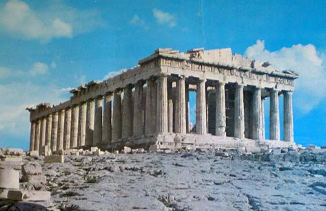 El Partenón, s. V a.C., Acrópolis de Atenas.