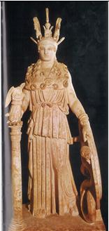 Palas Partenos de Fidias s. V. a.C.