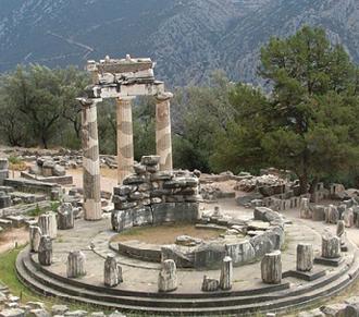 Tholos de Atenea Pronaia en Delfos, 390 a. C.